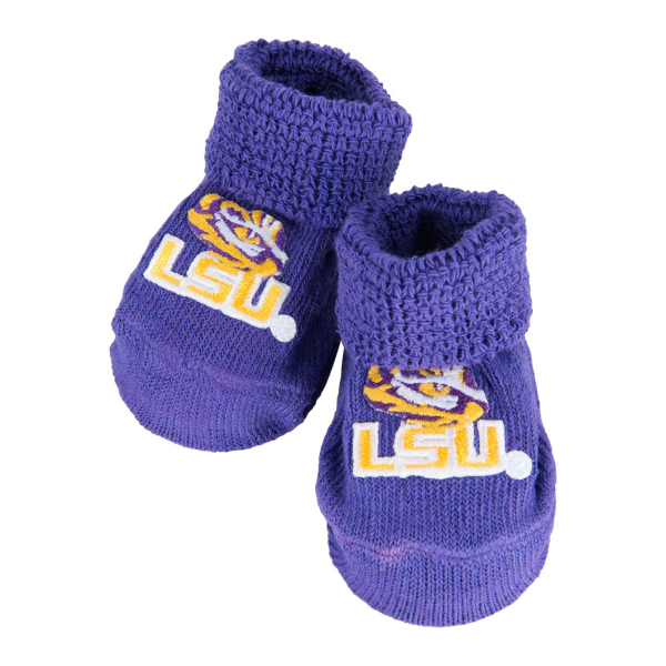 LSU Tigers Baby Booties