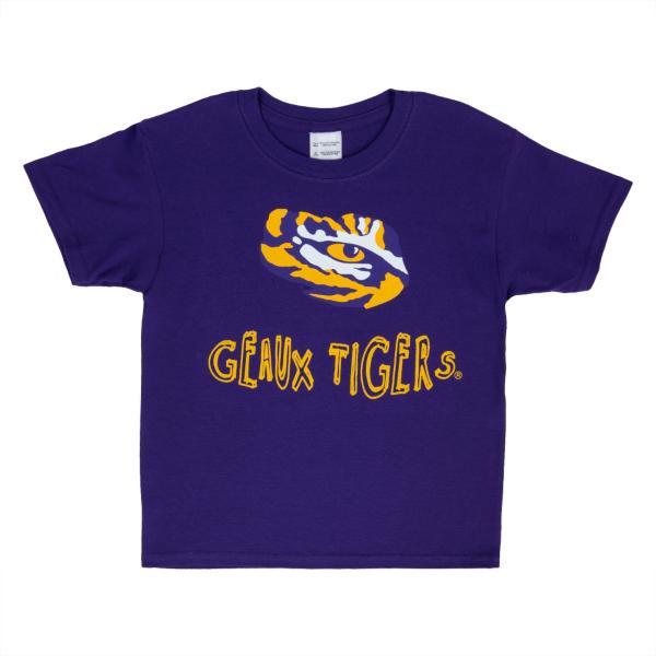 LSU Tigers Youth Short Sleeve Tee
