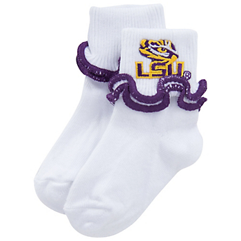LSU Tigers Double Ripple Edge Socks