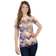 LSU Tigers Blue 84 Burnout Tee