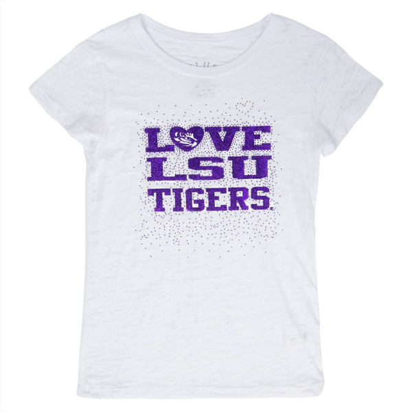 LSU Tigers Blue 84 Youth Burnout Tee