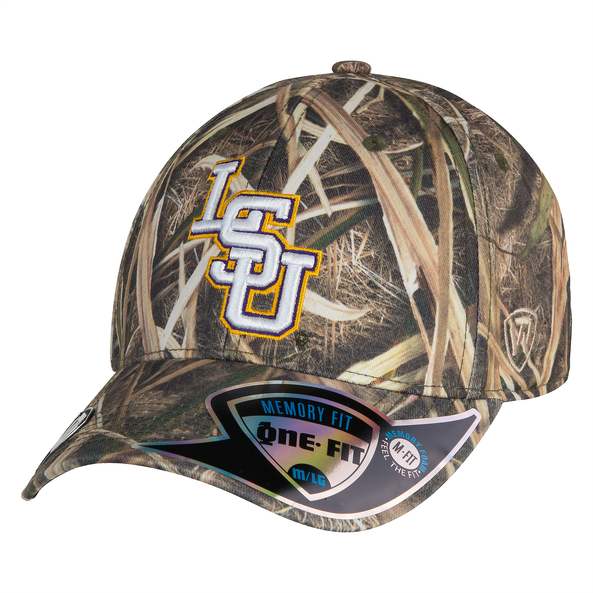 best service bc611 c86d7 LSU Tigers Top Of The World Blade Mossy Oak Cap   Fans United