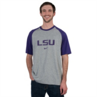 LSU Tigers Nike Raglan Tri Blend Top