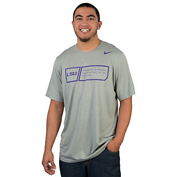 LSU Tigers Nike Legend Training Day Tee