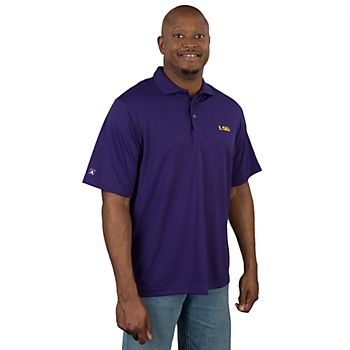 LSU Tigers Antigua Pique Xtra Lite Polo