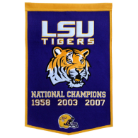 LSU Tigers Dynasty Banner