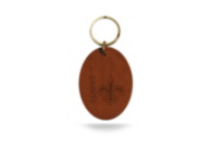 New Orleans Saints Leather Key Fob