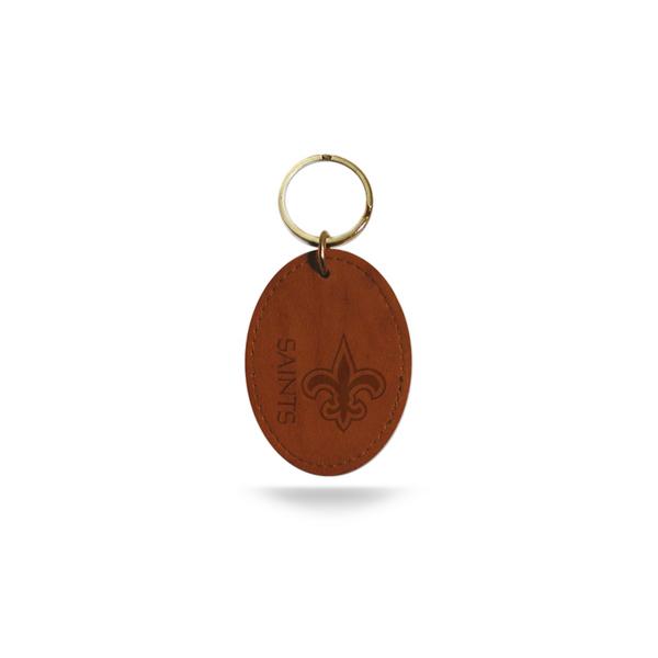 New Orleans Saints Leather Key Fob