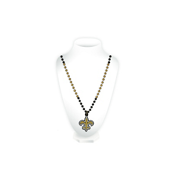New Orleans Saints Medallion Beads Necklace