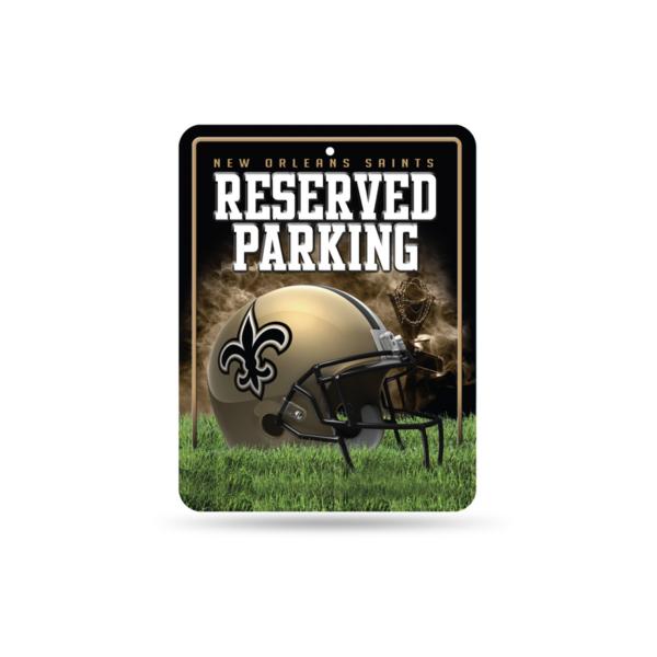New Orleans Saints Metal Parking Sign