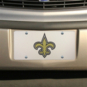 New Orleans Saints Silver Mirror Logo License Plate
