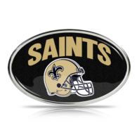 New Orleans Saints Oval Glitter Emblem