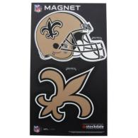 New Orleans Saints 2-Pack Helmet/Logo Magnet