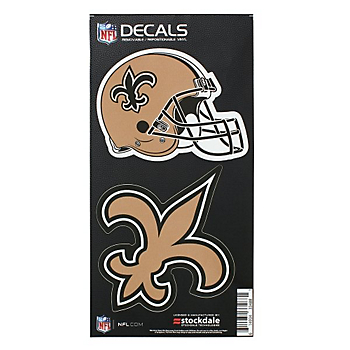 New Orleans Saints 6x12 2-Pack Helmet/Logo Decal