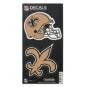 New Orleans Saints 6x12 2-Pack Helmet/Logo Decal