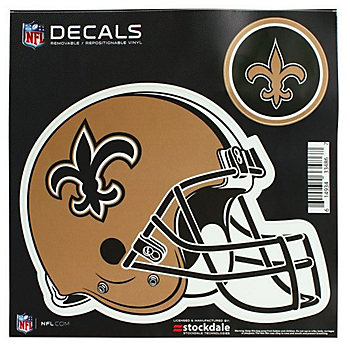 New Orleans Saints 8x8 Helmet Decal