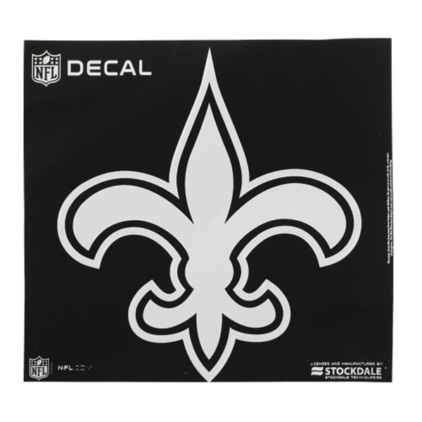 New Orleans Saints 8x8 Metallic Decal