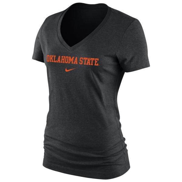 Oklahoma State Cowboys Nike Women's Arch V-Neck Tee
