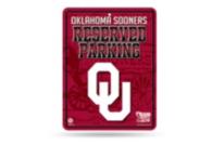 Oklahoma Sooners Metal Parking Sign