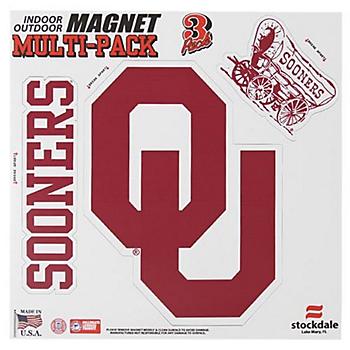 Oklahoma Sooners 8x8 Multi-Pack Magnets