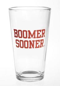 Oklahoma Sooners 16 oz Slogan Pint Glass