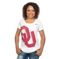 Oklahoma Sooners Nike Womens Logo Scoop Tee