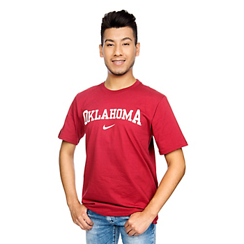 Oklahoma Sooners Nike Wordmark Cotton Tee
