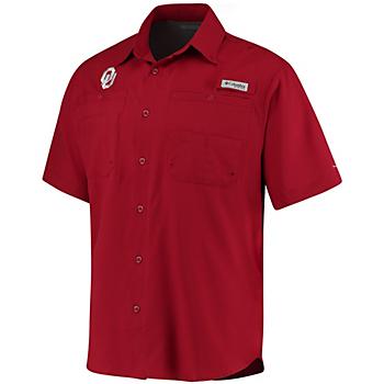 Oklahoma Sooners Columbia Tamiami Short Sleeve Shirt