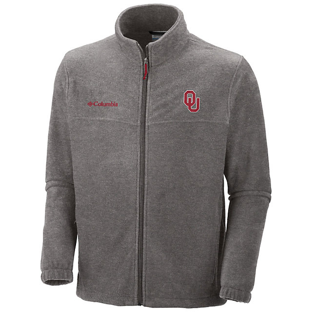 Oklahoma Sooners Columbia Flanker Fleece Full Zip Jacket