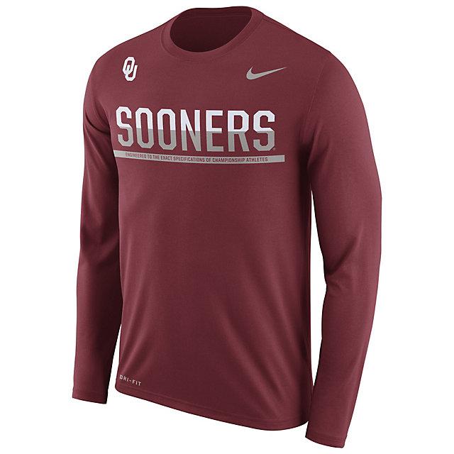 Oklahoma Sooners Nike Legend Staff Long Sleeve Tee