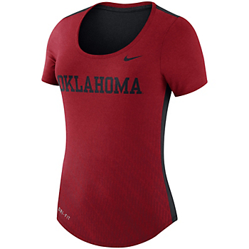 Oklahoma Sooners Nike Womens Dri-FIT Scoop Neck Tee