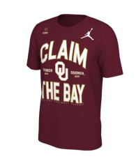 Oklahoma Sooners Nike Jordan College Football Playoff Claim Short Sleeve T-Shirt