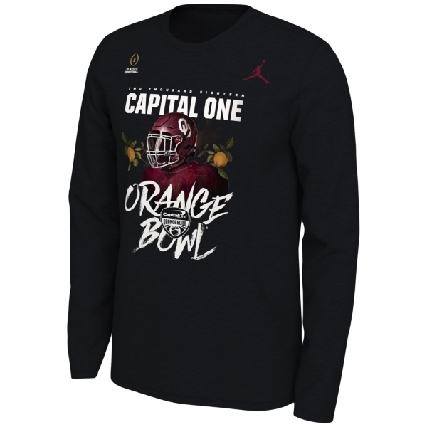 Oklahoma Sooners Nike Jordan College Football Playoff Orange Bowl Long Sleeve T-Shirt