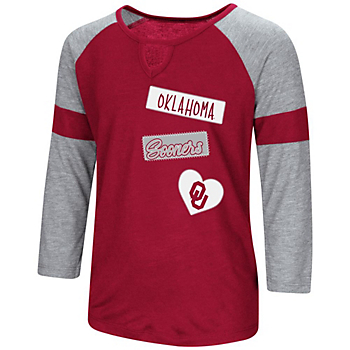 Oklahoma Sooners Colosseum Girls All You Need 3/4 Sleeve T-Shirt