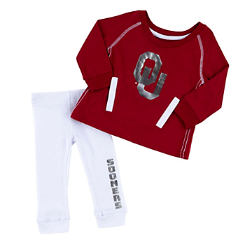 Oklahoma Sooners Colosseum Infant Girls Nice Kick Tunic and Legging Set
