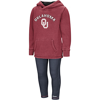 Oklahoma Sooners Colosseum Toddler Girls Shot at the Pros Set