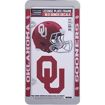 Oklahoma Sooners License Plate Frame and Decal Pack
