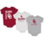 Oklahoma Sooners Colosseum Infant Boys Ahhhh! 3-Pack Onesie