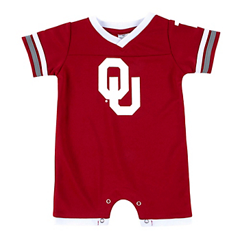 Oklahoma Sooners Colosseum Infant Boys One Time Football Onesie Romper
