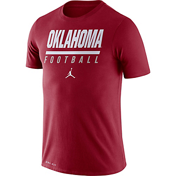 Oklahoma Sooners Nike Jordan Mens Icon Wordmark T-Shirt