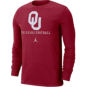 Oklahoma Sooners Nike Icon Wordmark Long Sleeve T-Shirt