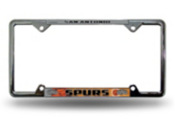 San Antonio Spurs EZ View Chrome License Plate Frame