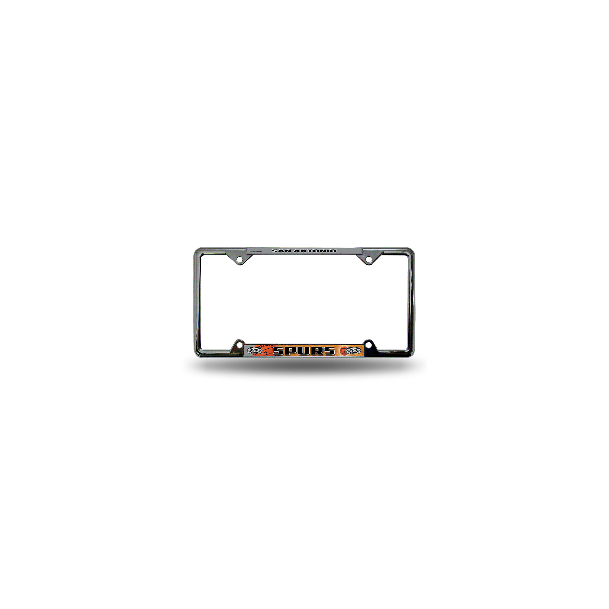 San Antonio Spurs EZ View Chrome License Plate Frame
