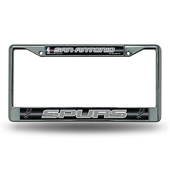 San Antonio Spurs Bling Chrome License Plate Frame