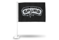San Antonio Spurs Black Car Flag