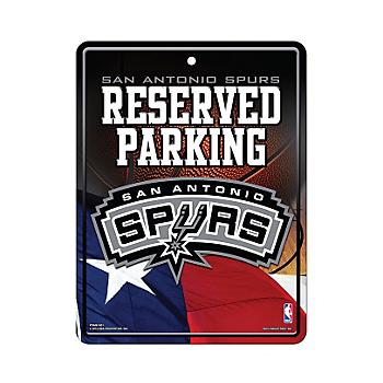 San Antonio Spurs Metal Parking Sign