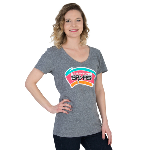 San Antonio Spurs Short Sleeve V-Neck Tee