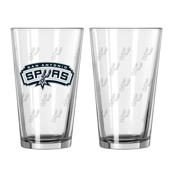 San Antonio Spurs 16 oz Satin Etch Pint