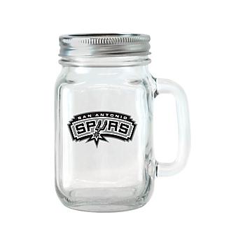 San Antonio Spurs Glass Handled Jar