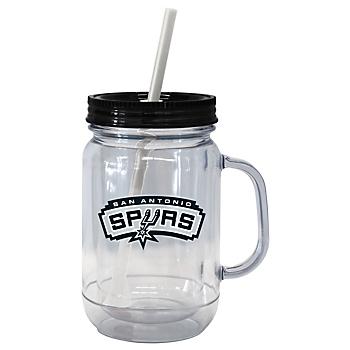 San Antonio Spurs Handled Straw Tumbler